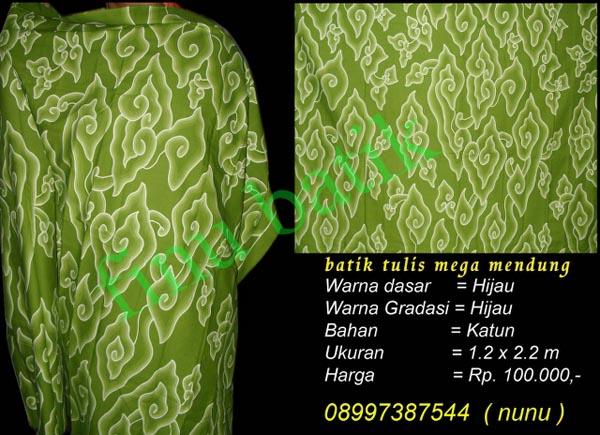 menjual batik tulis mega mendung, batik khas dari cirebon