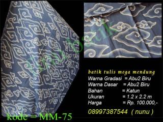 Mega Mendung Abu2 biru, Batik Mega Mendung, batik tulis mega mendung, batik mega mendung Abu2 biru, batik tulis mega mendung Abu2 biru, batik tulis cirebon