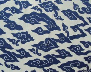 mega mendung biru putih tanpa gradasi, mega mendung, batik mega mendung