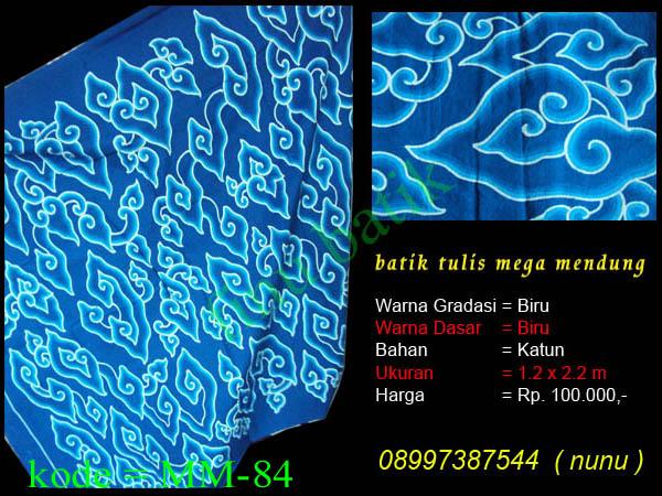 batik cirebon, batik mega mendung, mega mendung biru, batik tulis cirebon, batik biru