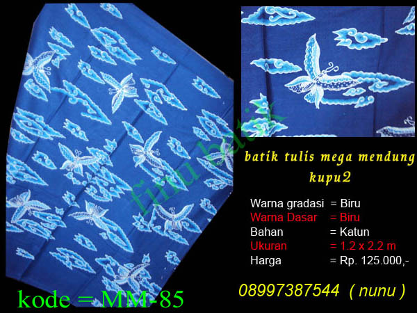 batik cirebon, batik mega mendung, batik tulis cirebon, mega mendung ...