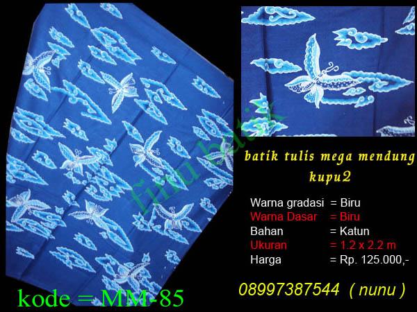 batik cirebon, batik mega mendung, batik tulis cirebon, mega mendung kupu